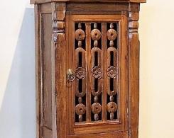 Bali Carved Door Teak Side Cabinet