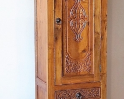 Carved Drawer Reclaimed Teak Indonesian Cabinet