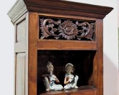 Carved Panel Bali Display Cabinet