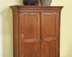 Vintage Teak Cabinet from Java with Spiral Posts