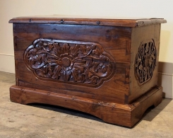 Rustic Carved Chest Reclaimed Teak