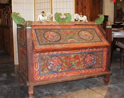 Old Carved Wedding Chest from Madura