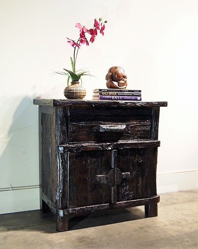 Java Indonesian Side Table Nightstands