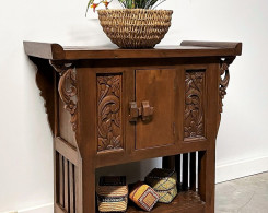 Carved Indonesian Console Table