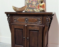 Carved Bali Console Cabinet