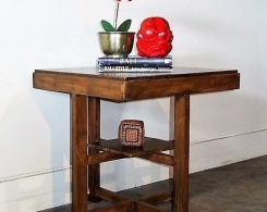 Vintage Art Deco Teak Side Table