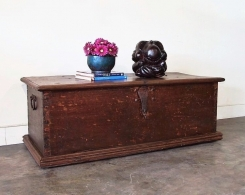 Old Teak Chest Trunk from Java Coffee Table
