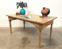 Vintage Bleached Colonial Desk Table
