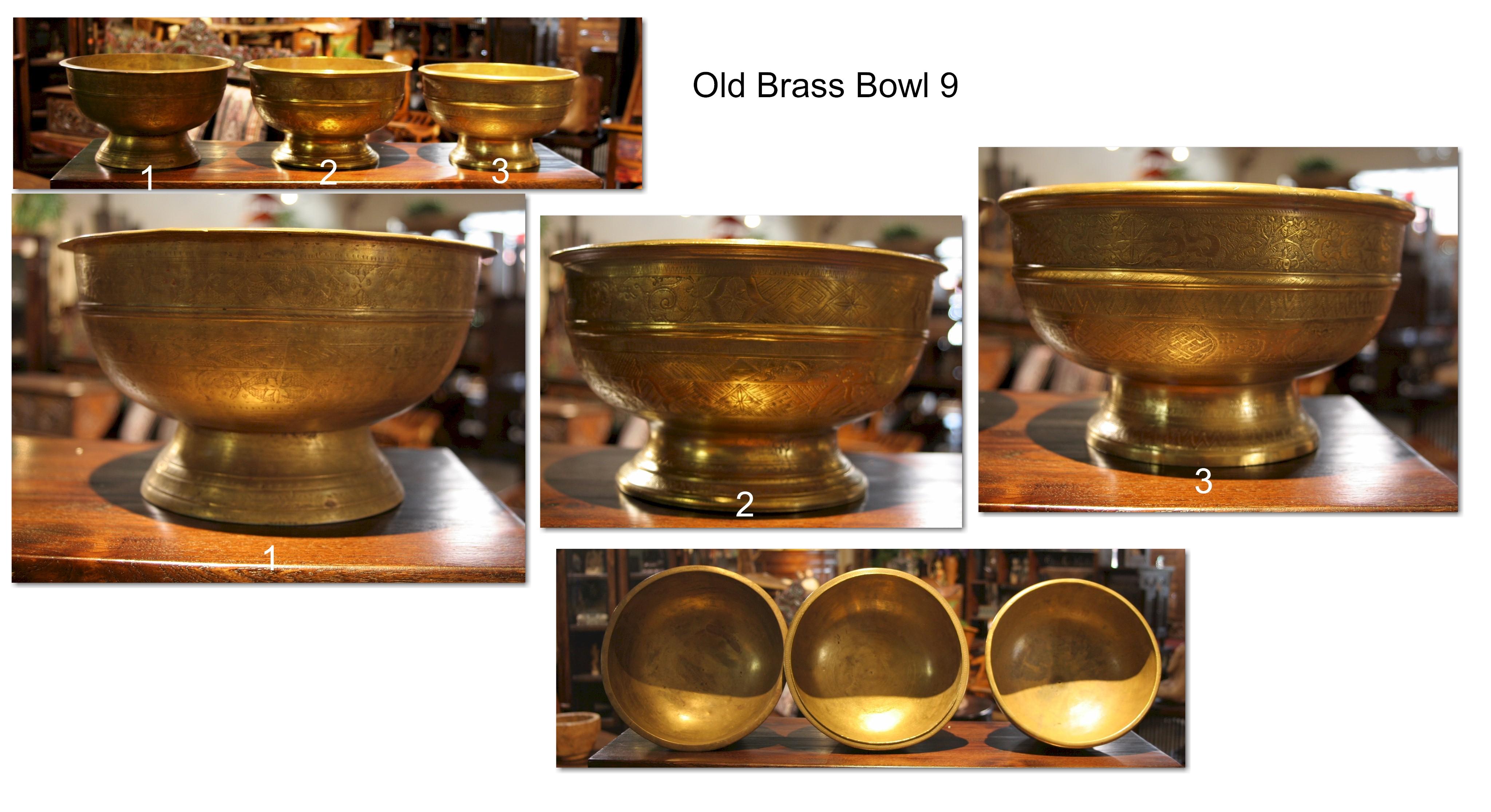 Old Brass Bowl 9