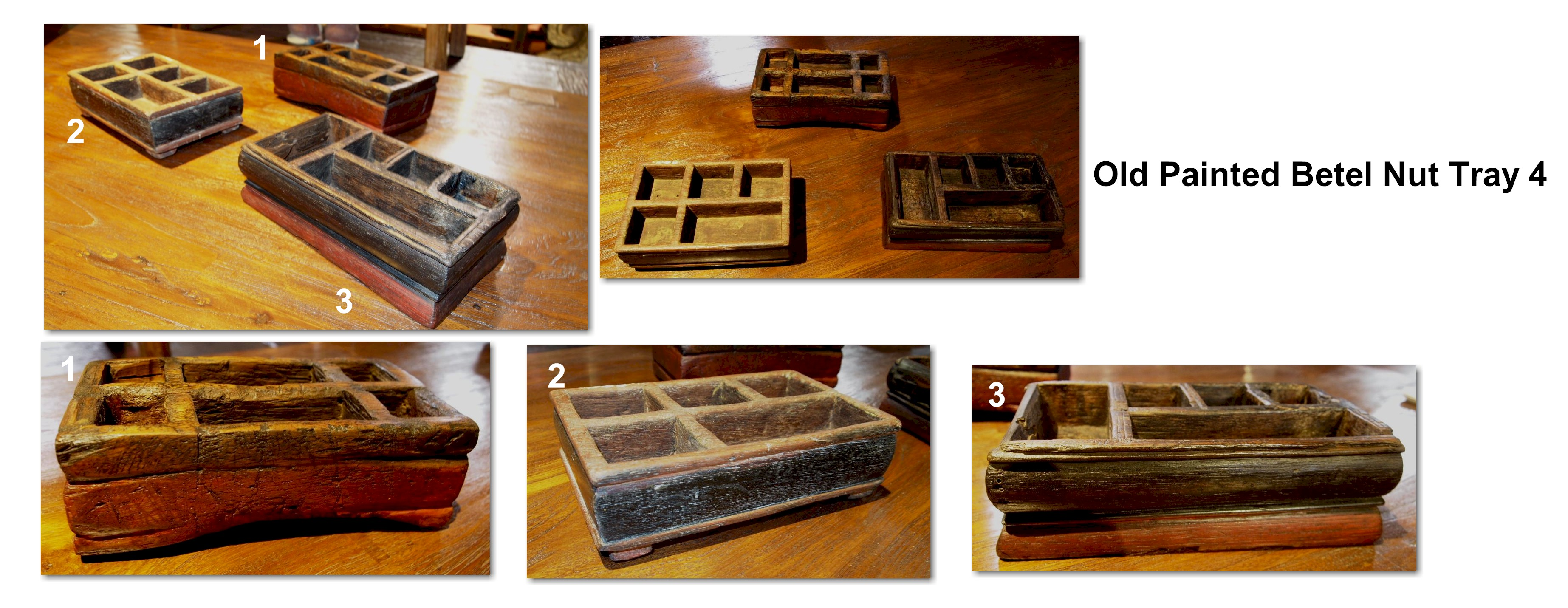 Old Painted Betel Nut Tray 4