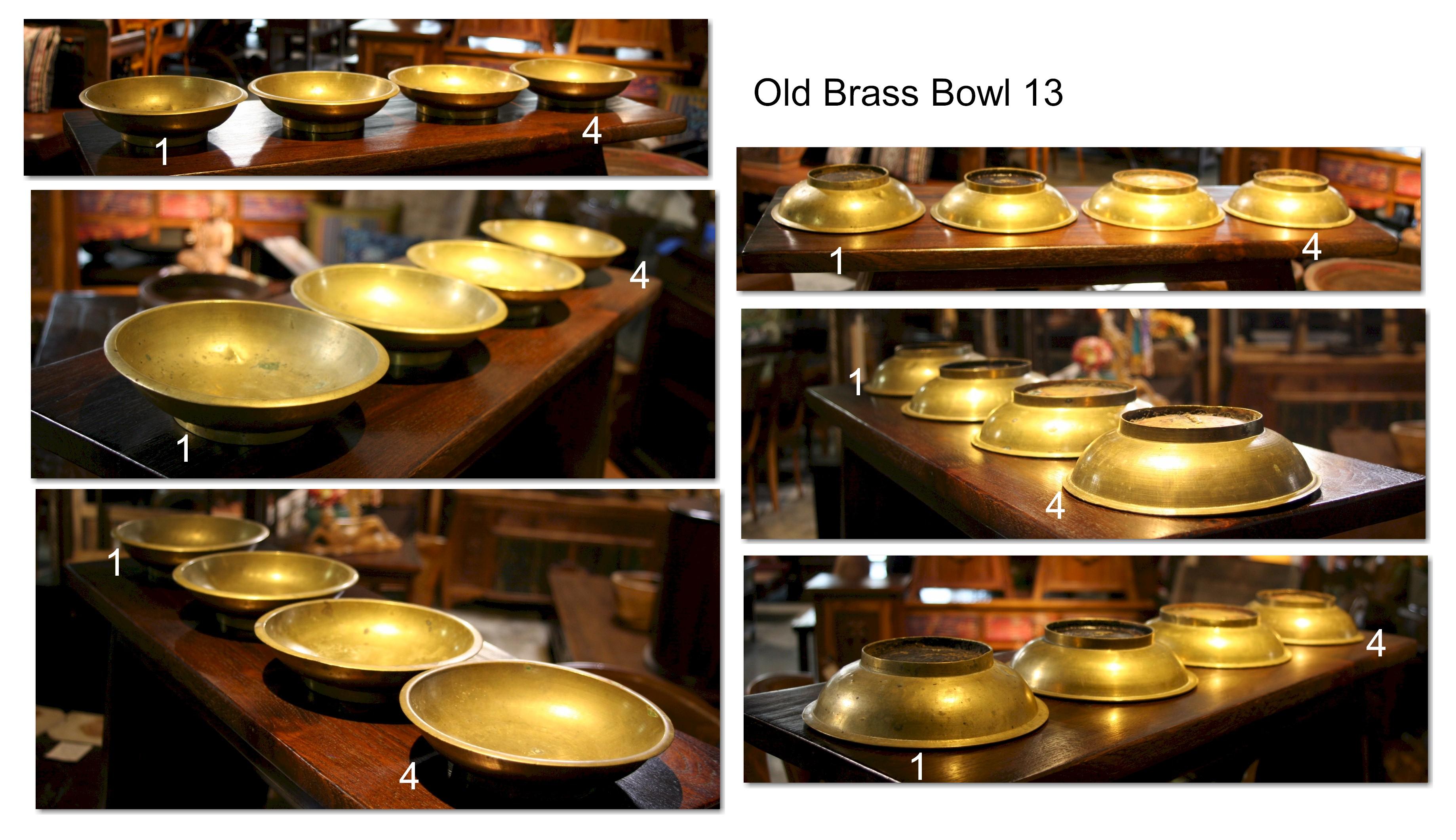 Old Brass Bowl 13