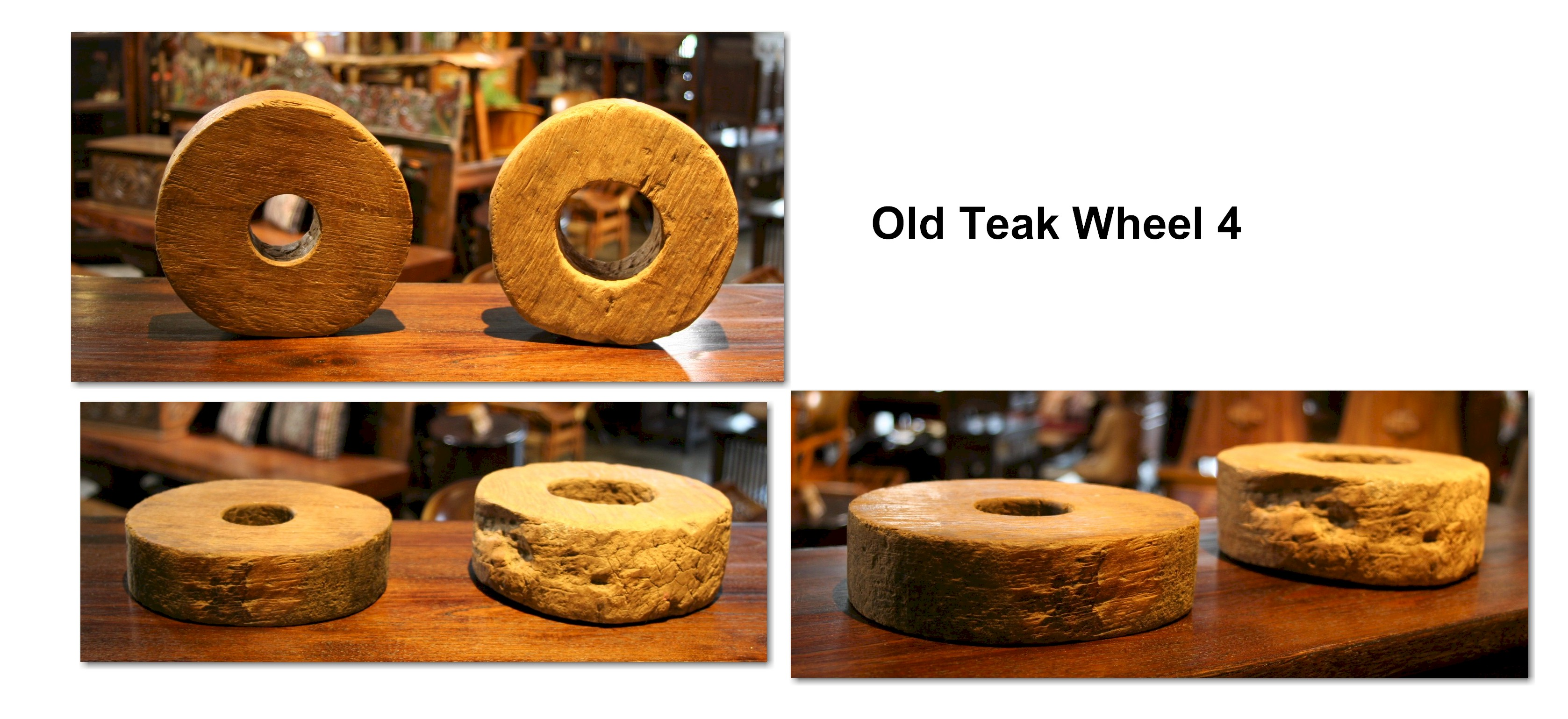Old Teak Wheel 4
