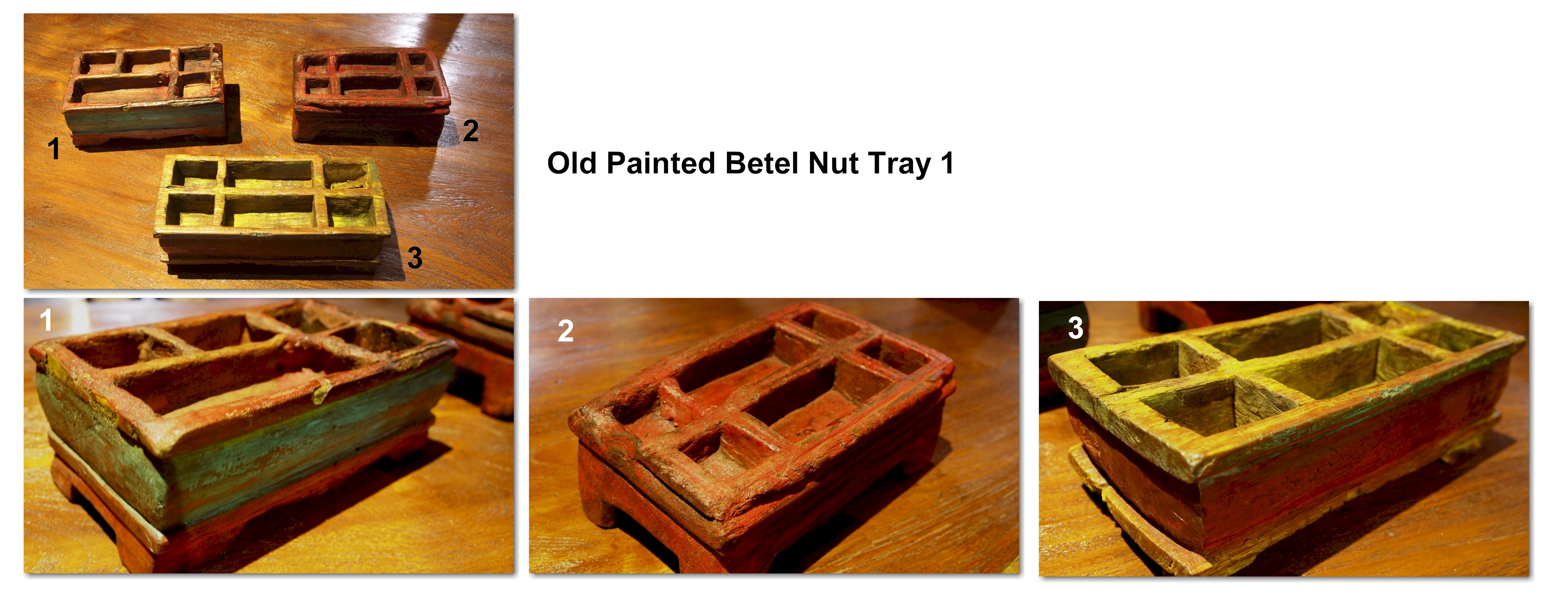 Old Painted Betel Nut Tray 1