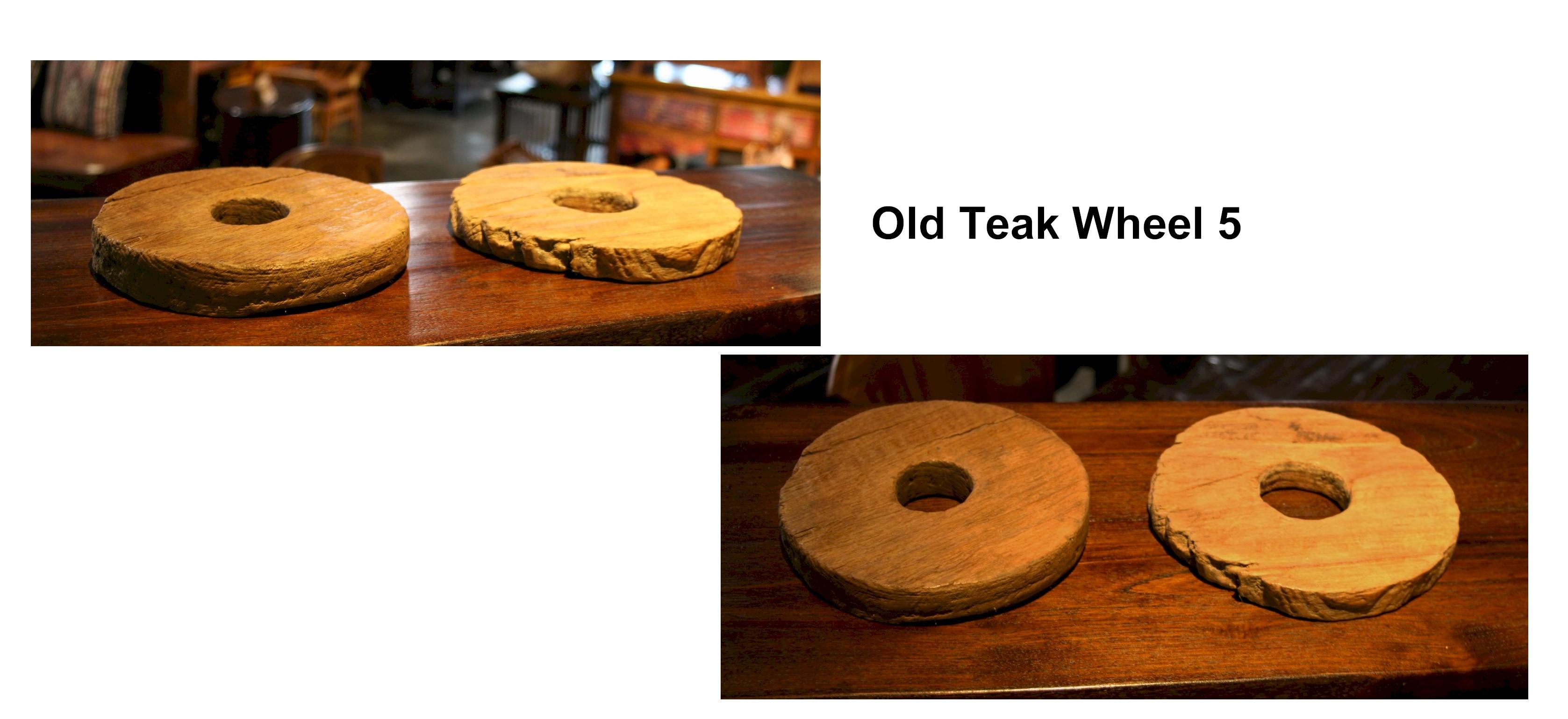Old Teak Wheel 5
