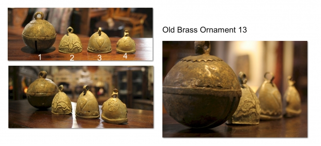 Old Brass Ornament 13