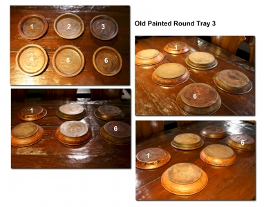 Old Painted Round Tray 2