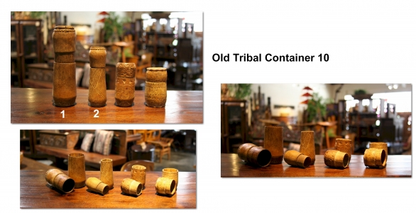 Old Tribal Container 10
