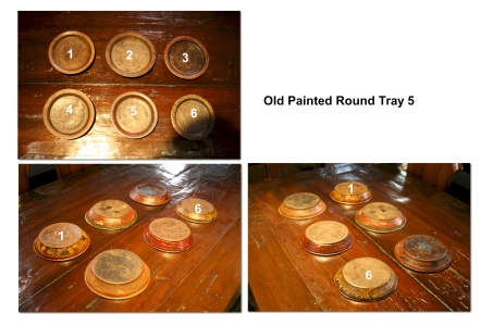 Old Painted Round Tray 5