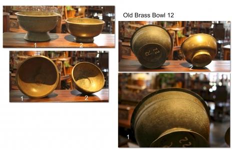 Old Brass Bowl 12