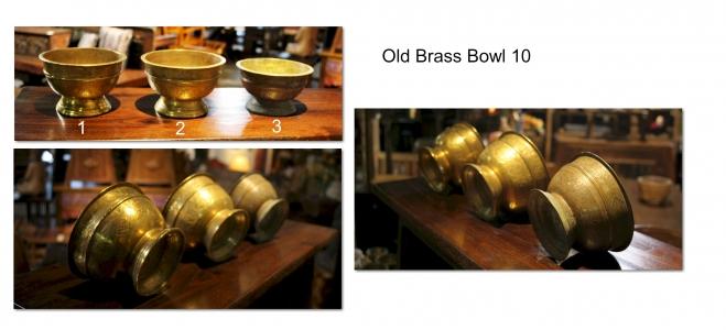 Old Brass Bowl 10
