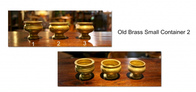 Old Brass Small Container 2
