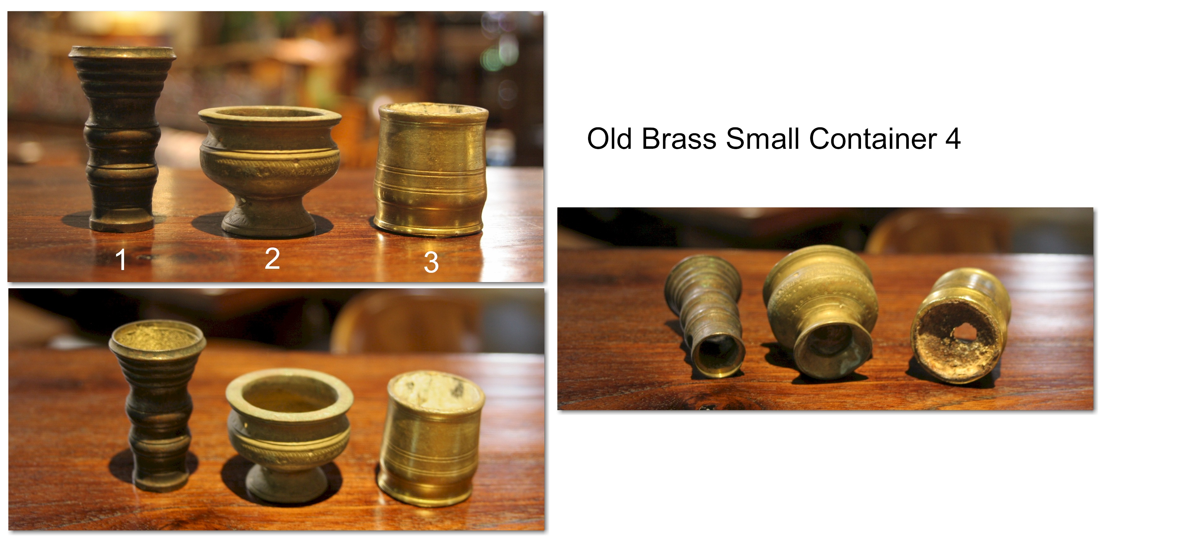 Old Brass Small Container 4