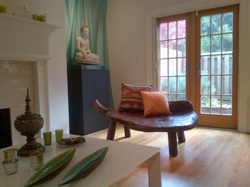 Rustic Turtle Bench - Client photo for web