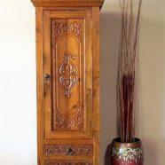 Carved Drawer Reclaimed Teak Indonesian Cabinet